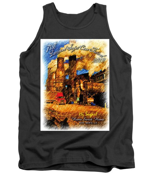 Louisiana Sugar Cane Poster 2012 Tank Top by Ronald Olivier