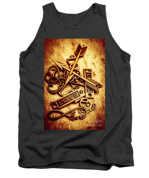 Love Charms In Romantic Signs And Symbols Tank Top