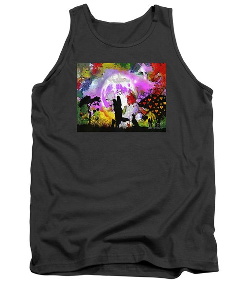 Love Family And Friendship In The Mix Tank Top by Catherine Lott