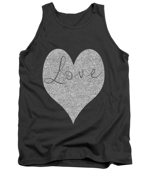 Love Heart Glitter Tank Top by Clare Bambers