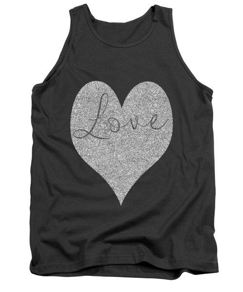 Love Heart Glitter Tank Top