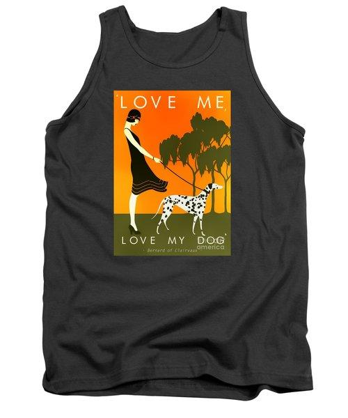 Love Me Love My Dog - 1920s Art Deco Poster Tank Top