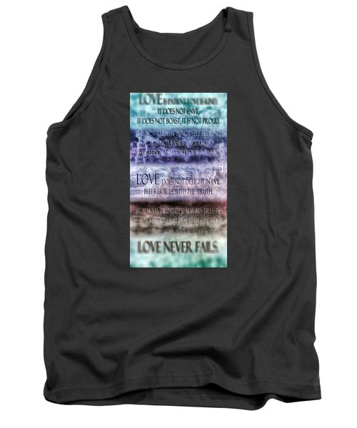 Tank Top featuring the digital art Love Rejoices With The Truth by Angelina Vick