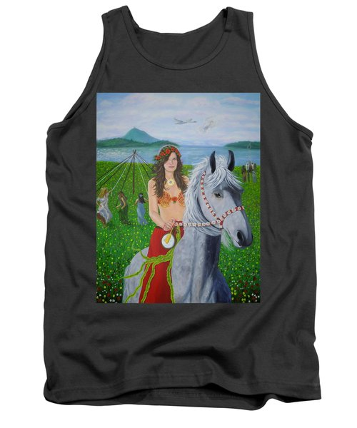 Lover / Virgin Goddess Rhiannon - Beltane Tank Top