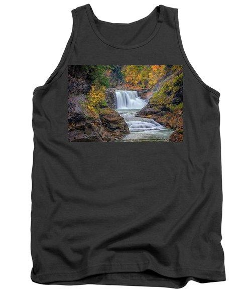 Lower Falls In Autumn Tank Top