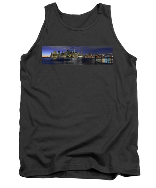 Lower Manhattan From Brooklyn Heights At Dusk - New York City Tank Top