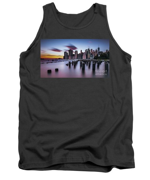 Lower Manhattan Purple Sunset Tank Top