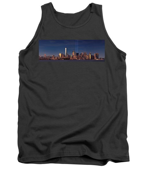 Tank Top featuring the photograph Lower Manhattantribute In Light by Emmanuel Panagiotakis