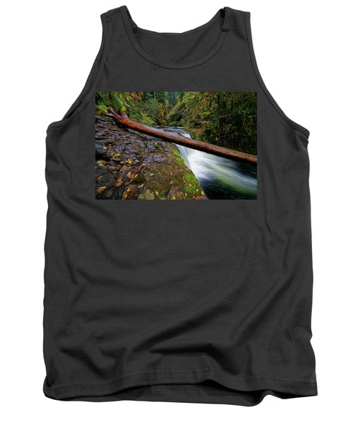 Tank Top featuring the photograph Lower Punch Bowl Falls by Jonathan Davison