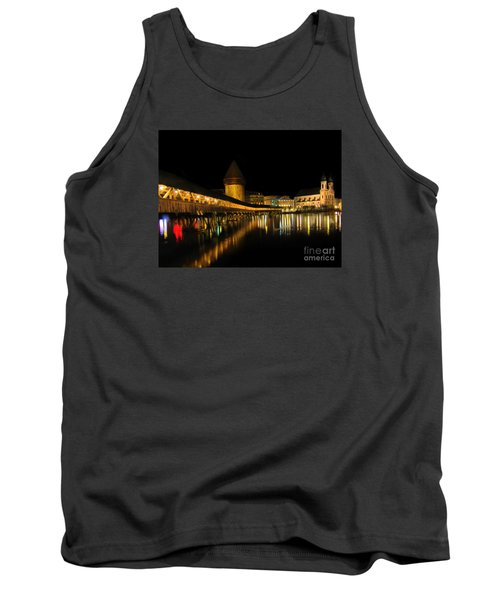 Lucerne Night Beauty II - Painting Tank Top by Al Bourassa