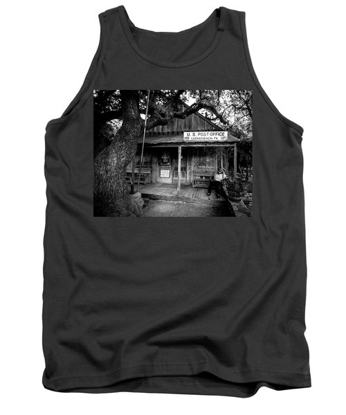 Tank Top featuring the photograph Luckenbach Texas by David Morefield