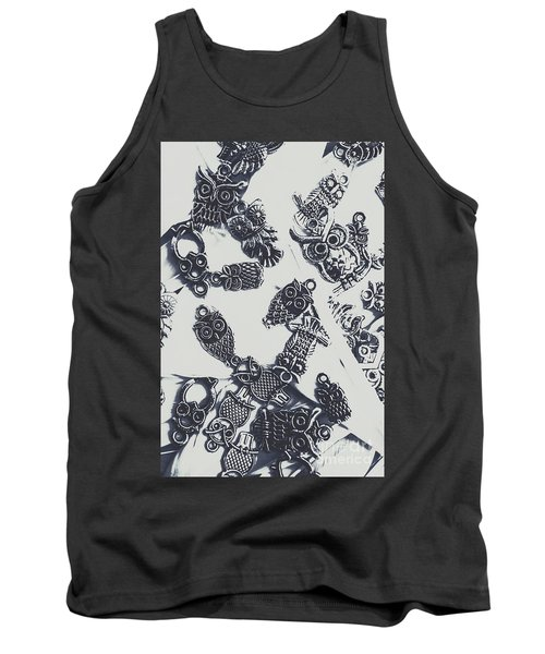 Lucky Charms Of Wise Old Owls Tank Top