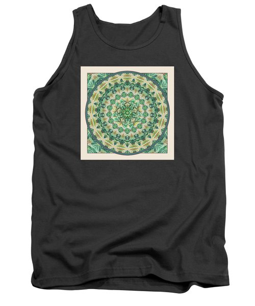 Tank Top featuring the digital art Luna Meditation Mandala by Deborah Smith