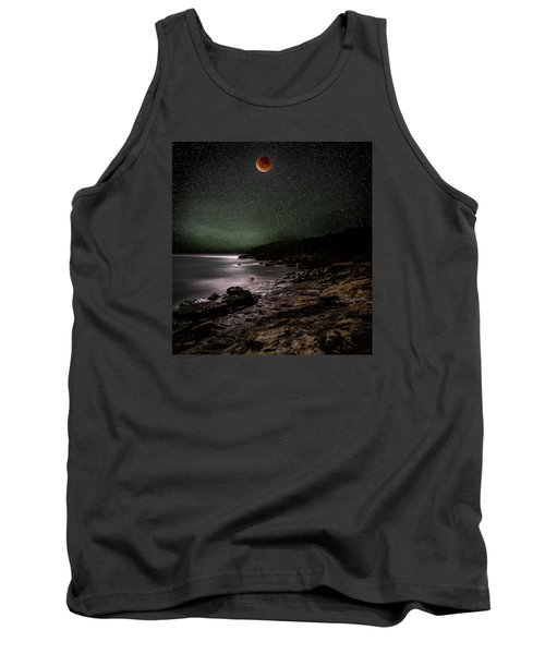 Lunar Eclipse Over Great Head Tank Top by Brent L Ander