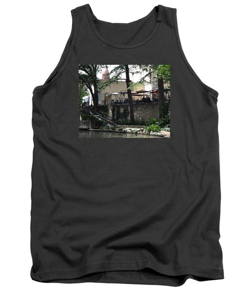 Tank Top featuring the digital art Lunch Above The River Walk by Kirt Tisdale