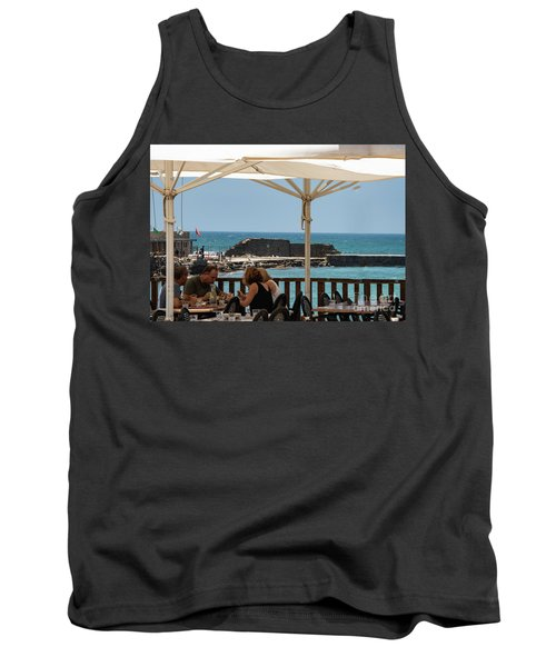 Tank Top featuring the photograph Lunch At The Mediterranean by Mae Wertz
