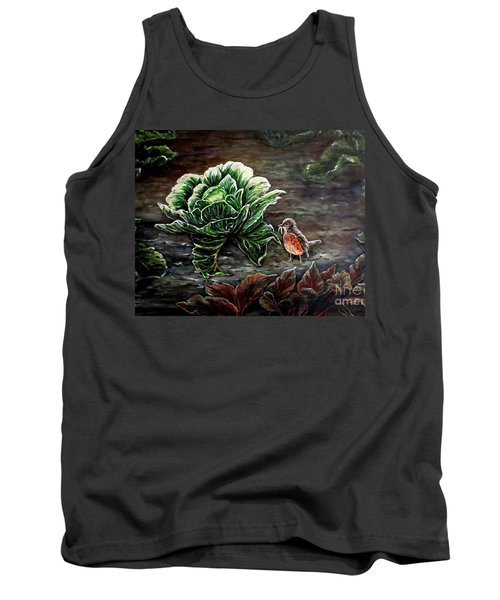 Tank Top featuring the painting Lunch In The Garden by Judy Kirouac