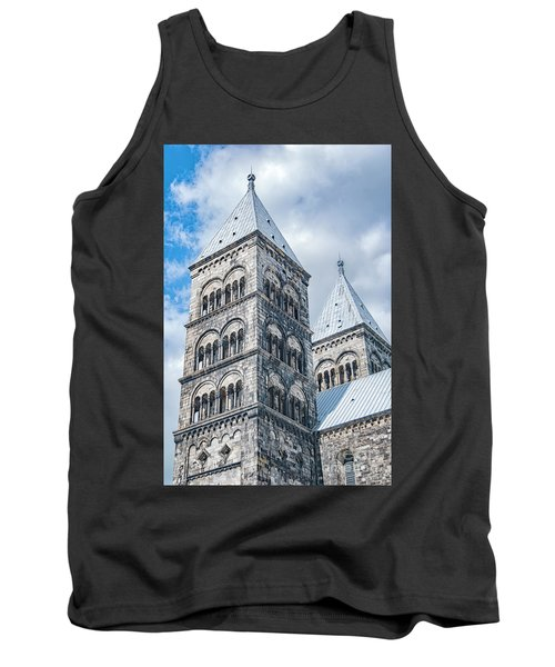Tank Top featuring the photograph Lund Cathedral In Sweden by Antony McAulay