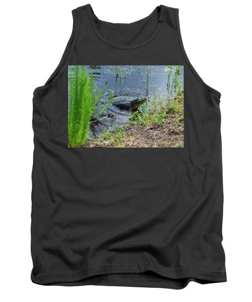 Lunging Bull Gator Tank Top by Warren Thompson