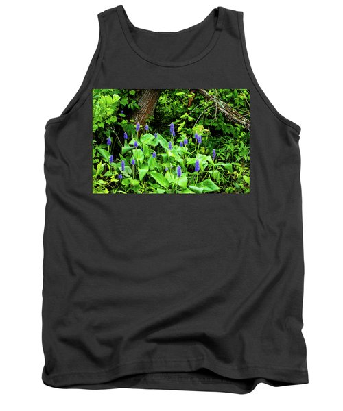 Lush Purple Flowers In The Woods Tank Top