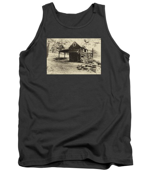 Tank Top featuring the photograph Luxenhaus Cow Barn by William Fields