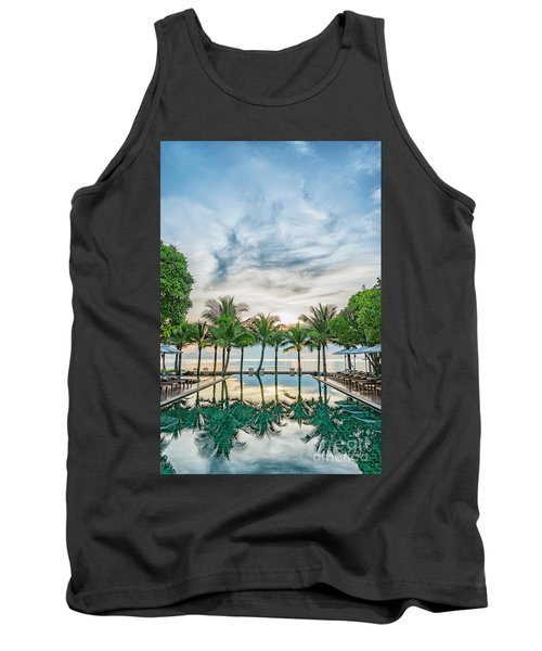 Tank Top featuring the photograph Luxury Pool In Paradise by Antony McAulay