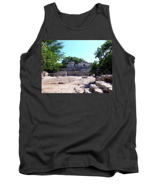 Tank Top featuring the photograph M Ruin by Francesca Mackenney