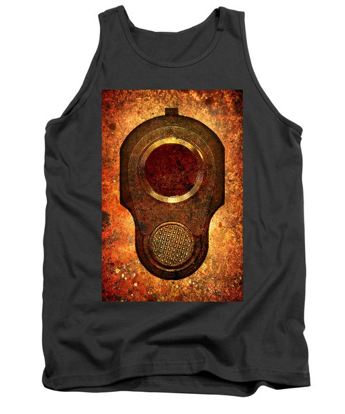 M1911 Muzzle On Rusted Background Tank Top by M L C