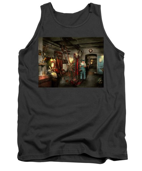 Tank Top featuring the photograph Machinist - Government Approved 1919 by Mike Savad