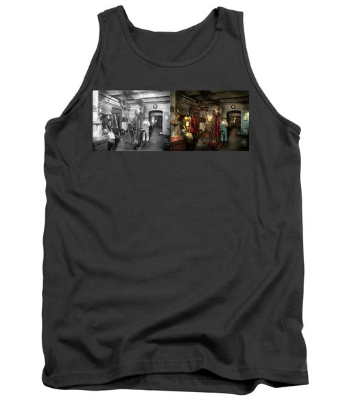 Tank Top featuring the photograph Machinist - Government Approved 1919 - Side By Side by Mike Savad
