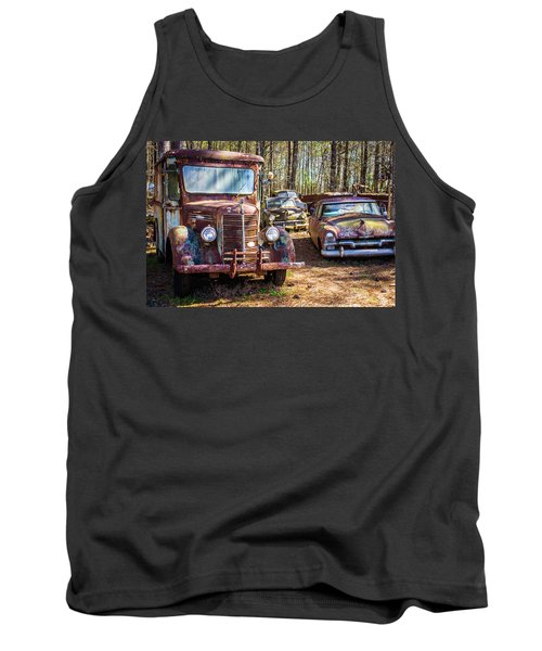 Mack Truck And Plymouth Tank Top