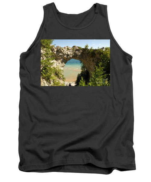 Mackinac Island Arch Tank Top by Larry Carr
