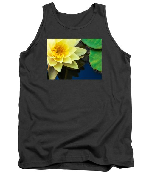 Macro Image Of Yellow Water Lilly Tank Top by John Williams