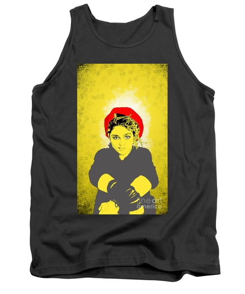 Madonna On Yellow Tank Top
