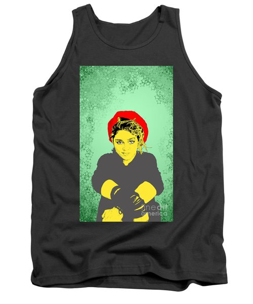 Madonna On Green Tank Top