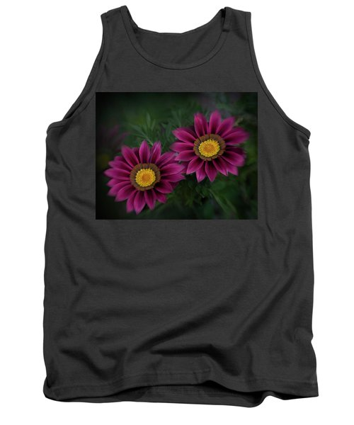 Tank Top featuring the photograph Magenta African Daisies by David and Carol Kelly
