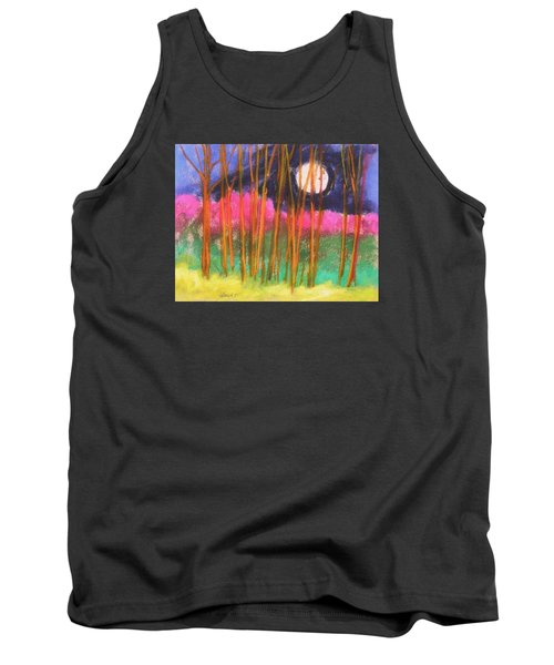 Magenta Treeline Tank Top by John Williams