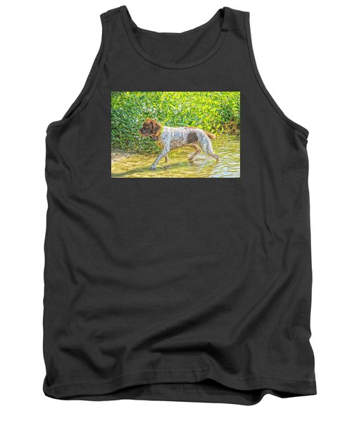 Tank Top featuring the photograph Maggie Stride Photo Art by Constantine Gregory