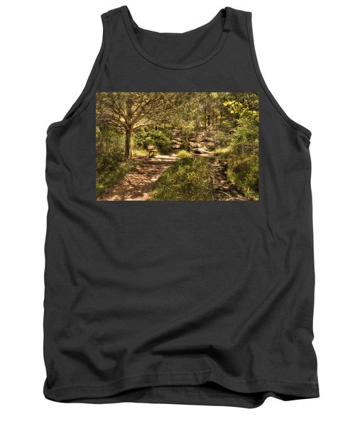Tank Top featuring the photograph Magic Bench by Tamyra Ayles