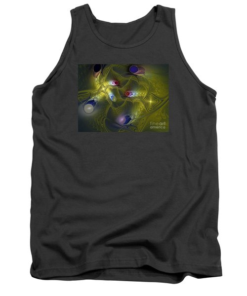 Tank Top featuring the digital art Magic Carpet by Karin Kuhlmann