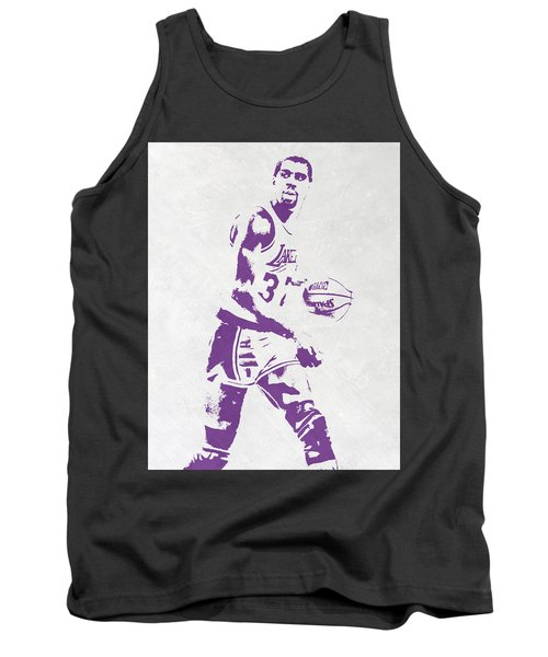 Magic Johnson Los Angeles Lakers Pixel Art Tank Top by Joe Hamilton