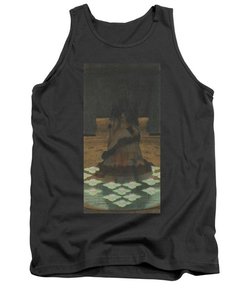 Magical Holy Mountain Within A Lotus-filled Sea Tank Top