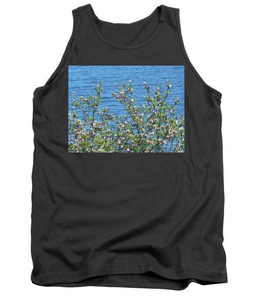 Magnolia Flowering Tree Blue Water Tank Top