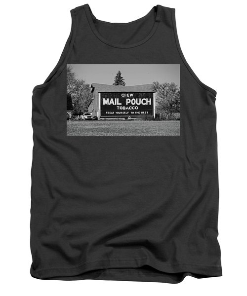 Mail Pouch Tobacco In Black And White Tank Top