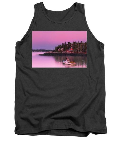 Maine Five Islands Coastal Sunset Tank Top