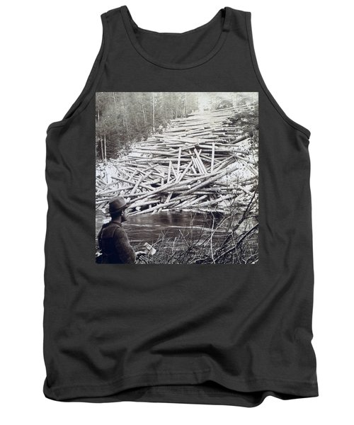 Maine Logging -  C 1903 Tank Top by International  Images