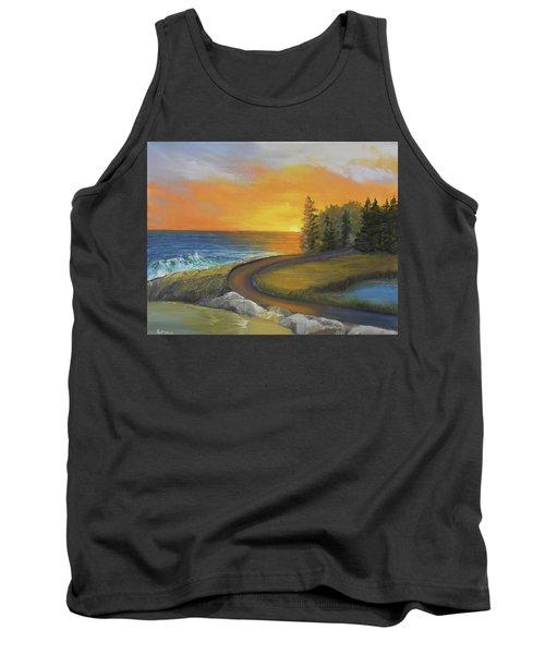 Maine Ocean Sunrise Tank Top