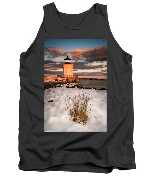 Maine Portland Bug Light Lighthouse Sunset  Tank Top