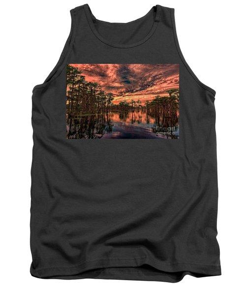 Majestic Cypress Paradise Sunset Tank Top