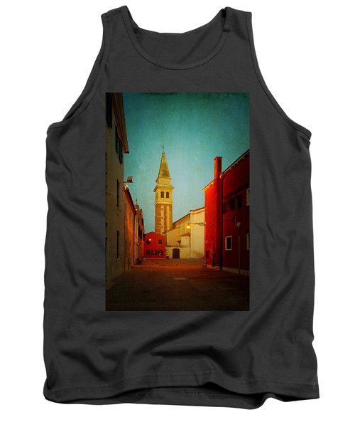 Tank Top featuring the photograph Malamocco Dusk No1 by Anne Kotan